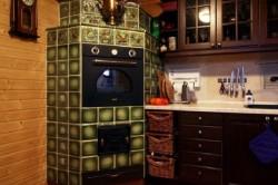 Русская печь в современном стиле