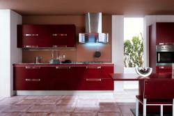 Бордовая кухня