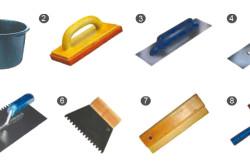 Основные инструменты, используемые при плиточных работах