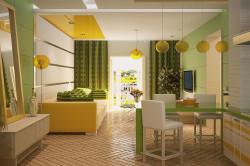 Пример освещения кухни-гостиной
