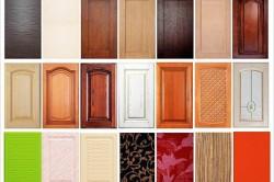 Разновидности дверей для кухонной мебели