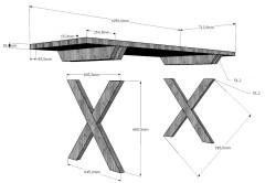 Схема крепления ножек
