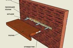 Схема крепления стеллажа на стенку балкона