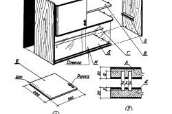 Схема навесного шкафчика