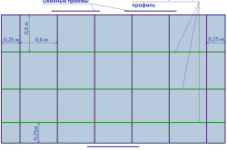 Схема разметки реечного потолка
