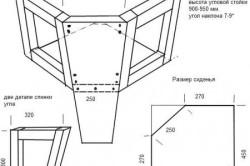 Схема сборки углового дивана для кухни