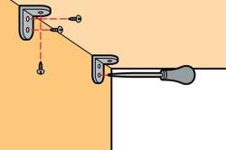 Схема установки крепежей для крепления полок