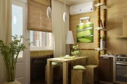 Бамбук в дизайне кухни