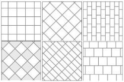 Схема вариантов укладки плит