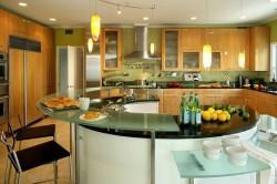 Кухня 12 кв. м с круглым столом