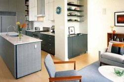Половое разделение кухни и гостиной