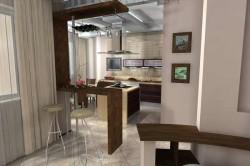 Кухня в жилой зоне
