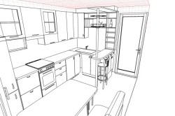Схема расстановки мебели на кухне