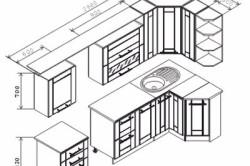 Схема кухонной мебели