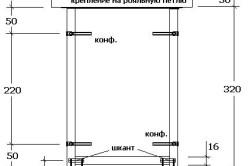 Схема монтажа сиденья табурета