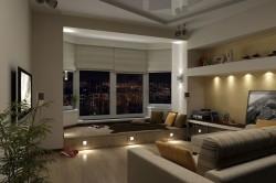 Зонирование архитектурными элементами и светом