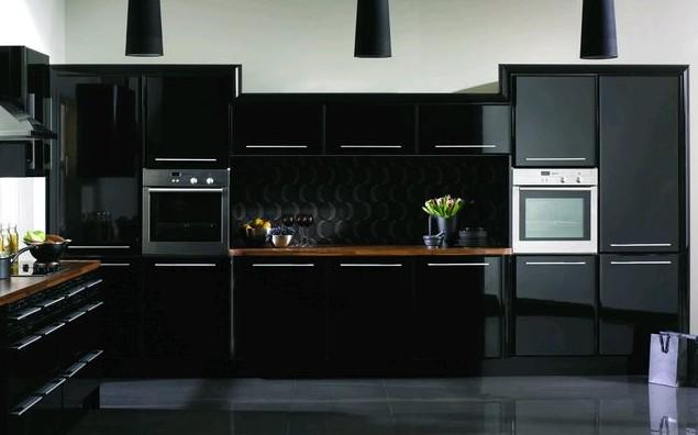 Кухня в черных цветах