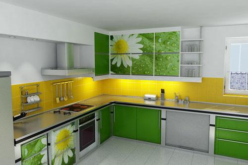 Угловой дизайн кухонной мебели