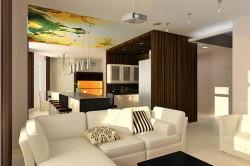 Соединение гостиной и кухни