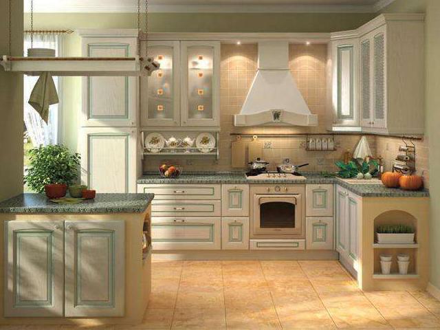 Пример цветовой гаммы кухни в классическом стиле
