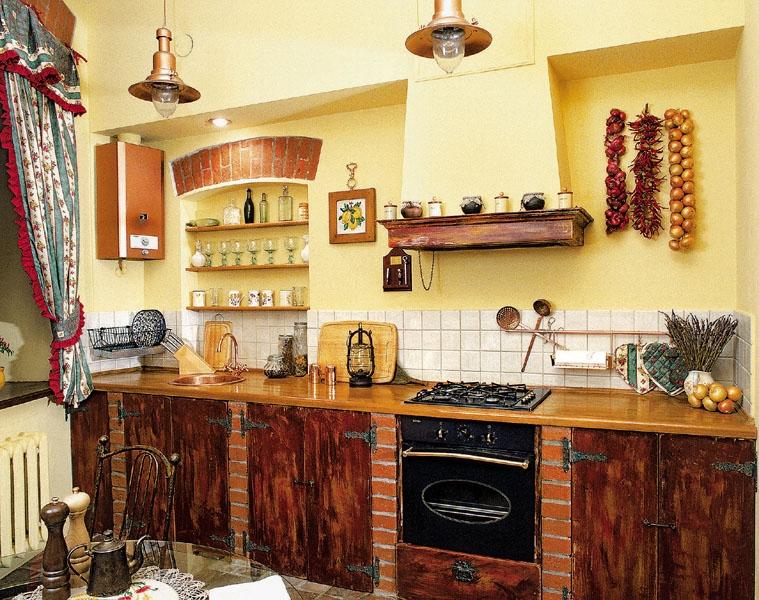Кухня деревенском стиле