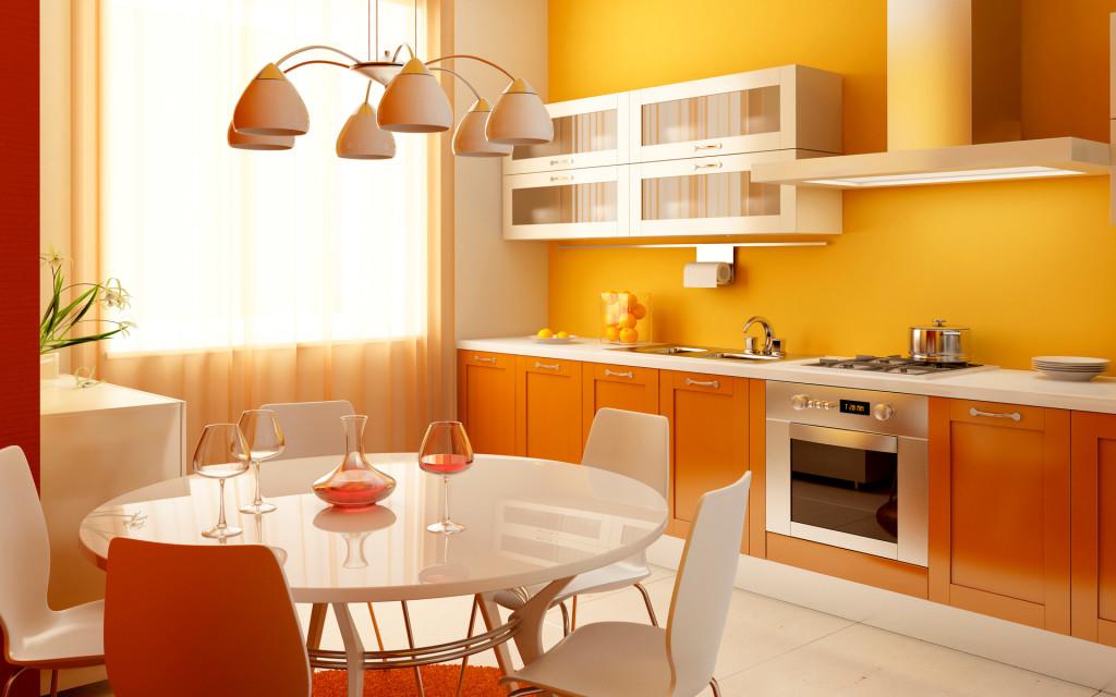 Дизайн кухни в желтых цветах