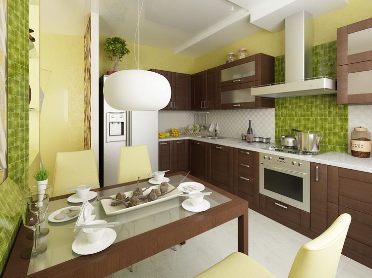 Пример кухни с обеденной зоной
