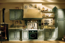 Расположение кухонных инструментов