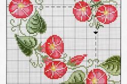 Схема прямоугольной скатерти вышиванием