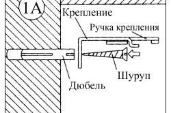 Схема крепления карниза к стене