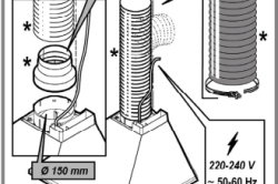 Схема подключения воздуховода к вытяжке