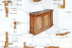 Схема сборки барного столика