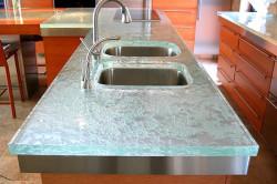 Стеклянная столешница для кухни