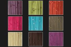 Пример цветовой гаммы штор из нитей и бусин