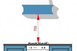 Оптимальная высота установки вытяжки