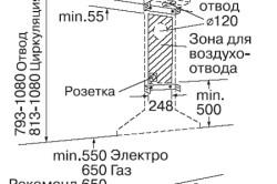 Схема установки вытяжки в шкафчик