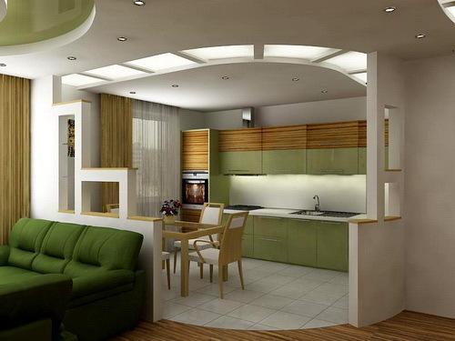 Дизайн проект потолка на кухне