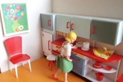 Макетный дизайн обустроенной кухни