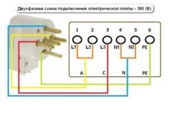 Схема подключения к двухфазной сети