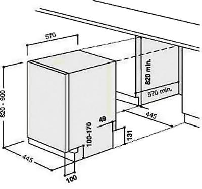 Схема установки встраиваемой
