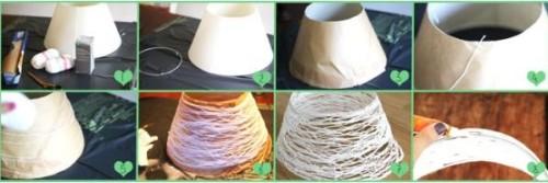 Процесс изготовления абажура своими руками