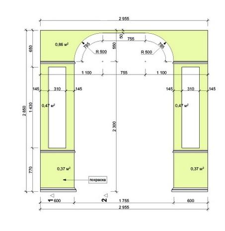 Пример расчетов арки из