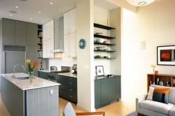 Цветовая гамма кухни и гостиной