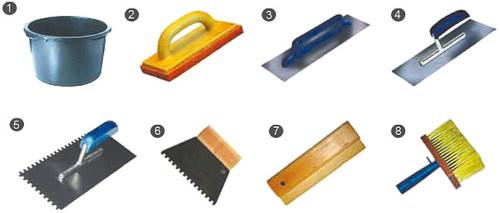 Инструмент, используемый при плиточных работах