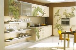 Аэрография в интерьере кухни