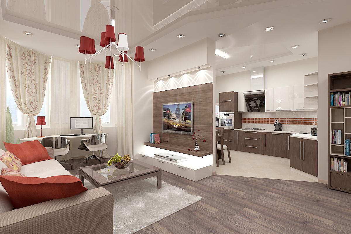 Фото дизайн кухни-гостинной