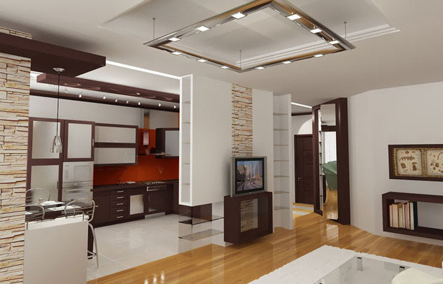 Дизайн совмещенной кухни и гостиной в хрущевке фото