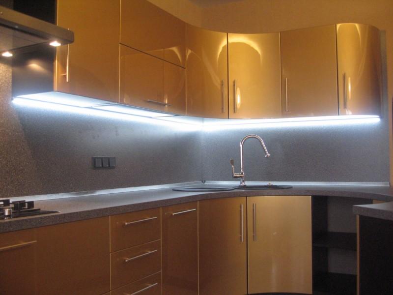 Светодиодная подсветка кухни своими руками фото 449