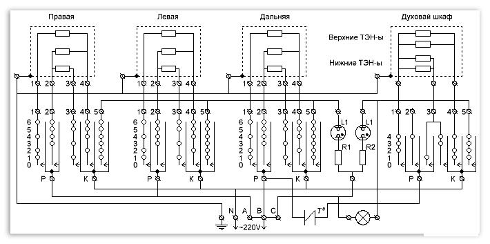 схема электроплиты