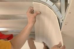 Оформление изгиба арки гипсокартоном